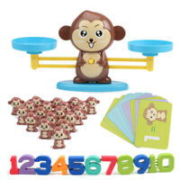Kids Animals Number Math Learning Toys Monkey Balance Scale Toy Math Game