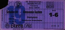 Ticket II. BL 88/89 FC Schalke 04 - Alemannia Aachen Stehplatz Nordkurve
