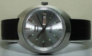 Vintage HMT RAJAT Automatic Day Date SS WRIST Watch Old Used Antique R802