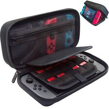 Nintendo Switch Carrying Case with Built in Stand,Large Pouch, Fits wall charger