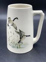 Vintage Hyalyn Geese Mug Cup Stein Model #641 Made in USA EUC Heavy Pottery