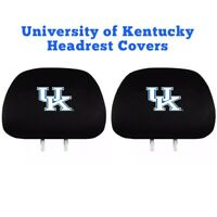 University of Kentucky Automotive Headrest Cover Set 2/Pack UK Wildcats
