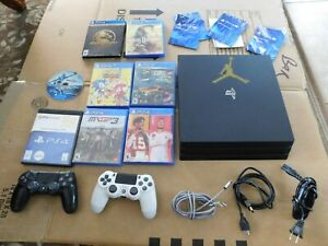 Sony PlayStation 4 PS4 1TB Gaming Console with 2 controllers + 8 Games