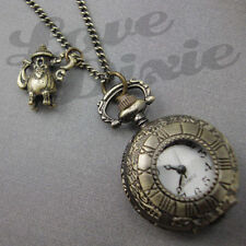 Watch Necklace Teapot Steampunk Alice in Wonderland Pocket