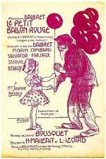 """""""le Petit BALLON ROUGE""""-Partition dessinée signée L.POUSTHOMIS (1881-1916) Chant"""