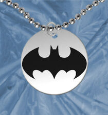Personalized FREE! Round BATMAN Necklace for Kids, Bat Signal