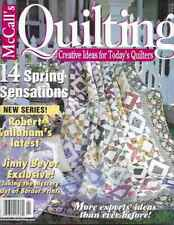 McCall's Quilting Magazine - April 2001 - Jinny Beyer Exclusive, Robert Callaham