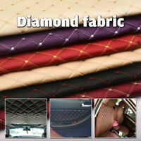 Faux Leather Diamond Fabric Heavy Duty Leatherette Upholstery Sewing Material
