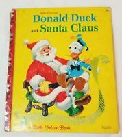 Little Golden Book Walt Disney's Donald Duck and Santa Claus Yellow Cover 1952