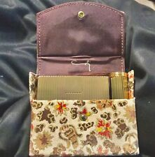 New listing Vintage Coty Powder Compact Lipstick Tube in Original Tapestry Holder circa 1950
