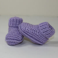 PRINTED KNITTING INSTRUCTIONS-PREMATURE BABY RIB CUFF BOOTIES KNITTING PATTERN