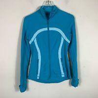 Lululemon Athletica Scuba Track Jacket Womens Size 6 Full Zip Yoga Blue