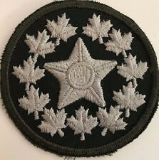 """Royal Canada Army Cadet National Star Patch Silver on Green 2 3/4"""" Round - #4947"""
