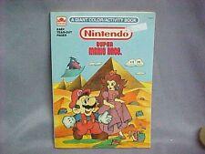 Vintage Nintendo Super Mario Bros Giant Coloring Book (Unused) Rare! E