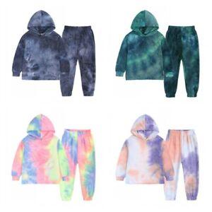 Kids Hoodie+Trousers Gift Boys Outfit Casual Hooded Sweatshirt Jumper 2Pcs Set