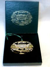 New ListingVtg 2001 Greenbrier Resort 24k Gold Finish Christmas Ornament, Orig Box, Exc