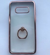 Ring Holder Case Cover for Samsung Galaxy S10e  Slim Clear silicon rose gold