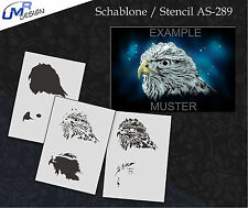 Step by Step Airbrush Stencil AS-289 M ~ Template ~ UMR-Design