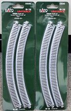 LOT of 2 - N Scale KATO UNITRACK 20-132 Curved Track R348-45* 4 Pieces per Pack