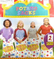 4 Pcs Woven Poly Potato Sack Race Hop Bags Carnival Party Activity Children