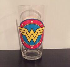 DC COMICS WONDER WOMAN And SUPERMAN PINT GLASS VINTAGE COMIC DESIGN