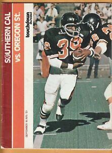 1975 USC Trojans Oregon State Beavers Football Program Clay Matthews B1