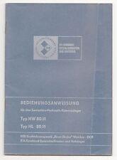 Betriebsanweisung Zweiseiten Hydraulik Kippanhänger Typ HW 80.11 + HL 80.11 DDR