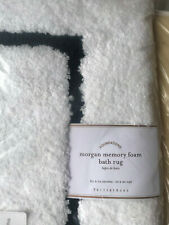 "Pottery Barn Morgan Memory Foam Bath Rug 21"" x 34"" Black NEW"