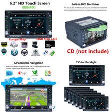 "F6002B Lecteur CD/DVD MP5 MP3 Bluetooth 6.2"" HD Touch + 8 Go Carte carte GPS Nav"