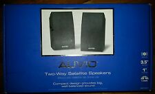NEW AUVIO Two Way Satellite Speakers 1 Pair 25W x 2 RMS 4000461