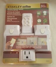 STANLEY INDOOR WIRELESS REMOTE SYSTEM 3 OUTLET PLUG PACK 56316 PK305