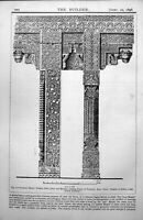 Old Sultana'S House Fathpur Sikri Piers Brackets Carrying Lintels 1898 19th
