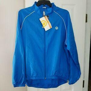 Canari Mens 3 Season Cycle Shell Cycling Jacket Size XXL Breakaway Blue