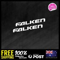 2x FALKEN TYRES MEDIUM STICKER DECAL CAR RACING JDM STICKER 150x16mm