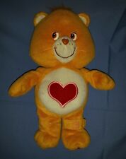 "2004 Care Bears 11"" Tenderheart Bear Smart Check Up Talking Plush Bear"