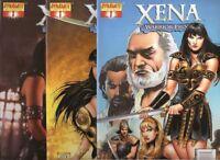 Xena Warrior Princess 1 Tan Photo Nm Dynamite Comics Books 3 Covers Set