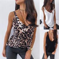 Women Sleeveless Loose Vest T Shirt Ladies Summer Camisole Tank Tops Blouse NBP