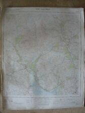 NEW GALLOWAY LARGE OS WALL MAP 1in LINEN BACKED 1955