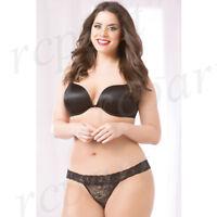 New Sexy women intimates lingerie lace thong plus size Black 1X/2X 3X/4X 10546X