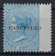 MAURITIUS VARIETY Queen Victoria 1860 Two Pence Blue Wmk SG 46 MH  . LOT 379
