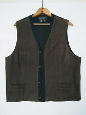 Fabrizio Del Carlo Small Leather  Brown Vest   Mens