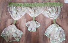 Ready made Voile Net curtains One Piece Voiles green cream