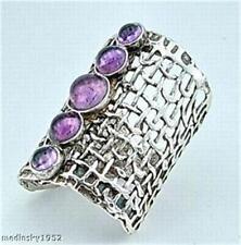Hadar Designers Israel Handmade Art 925 Silver Amethyst Ring any size (H 1142b)