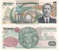 MEXICO 10000 Pesos (1989) P-90c UNC Banknote Paper Money