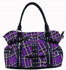 Banned Apparel Rise Up Handcuff Tartan Punk Adult Womens Handbag Bag BBN755