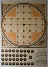VICTORIAN SOLITAIRE FOX AND GEESE BOARD GAME 1880 BOY'S OWN ANNUAL PAPER CUT OUT