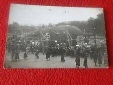 Vintage Early Real Photo Blimp Dirigible Postcard RPPC