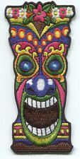 HAWAII pink flower head tiki EMBROIDERED IRON-ON PATCH island FREE SHIPPING 3815