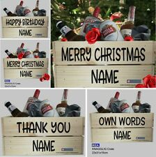Personalised Sticker for Wooden Crate, Christmas Hamper, Beer, Wedding Crate DIY