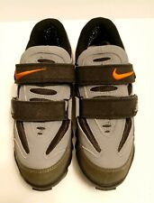 Nike 1997 ACG Mens US 7 Gray Suede Mountain Bike 2-Bolt Cleats Cycling Shoes